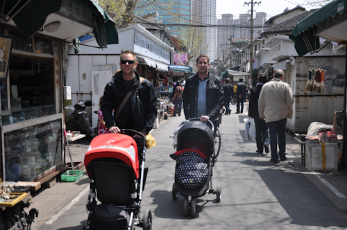 Ute och cruisar med våra pappor