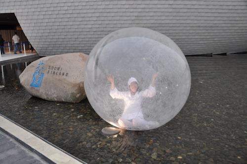 Finnarnas space ball, hon satt där hela dagen